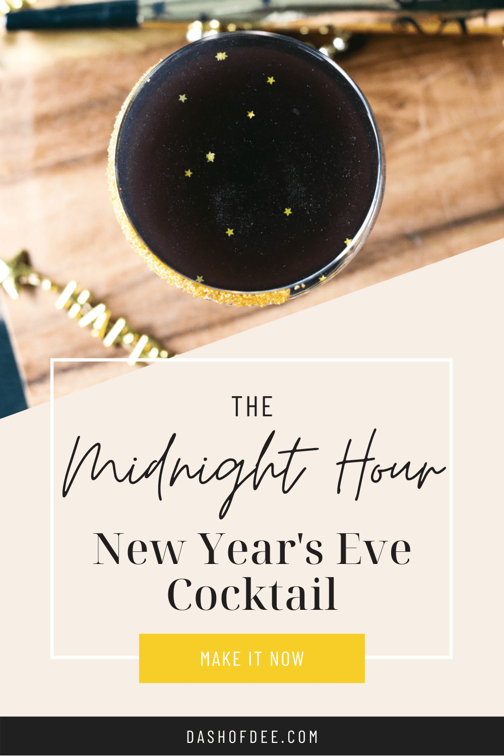 new year's eve cocktail - the midnight hour