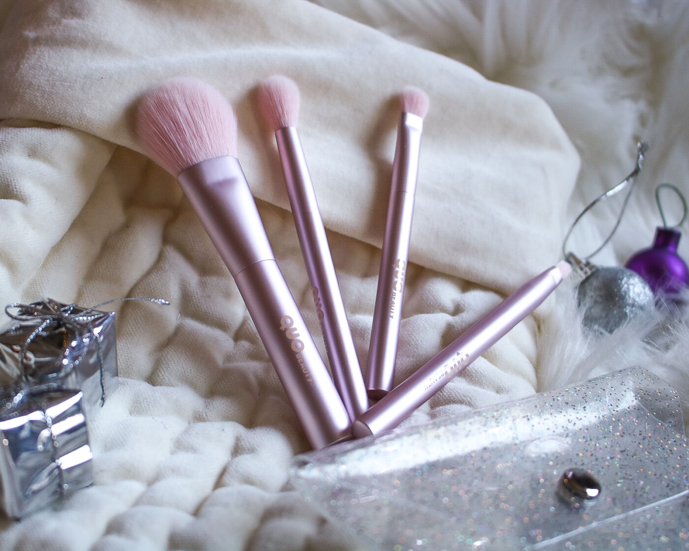 quo beauty sparkle and shine brush set